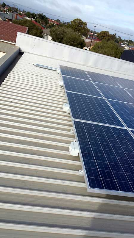 Solar panel installation on suburban Adelaide roof