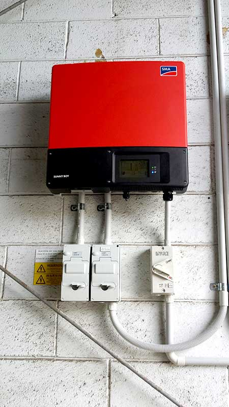 Solar inverter installation