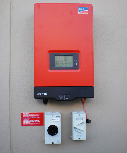 SMA Solar Inverter with concealed wiring