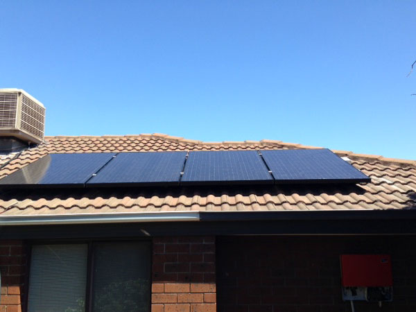 Small Roof mounted Solar PV installation