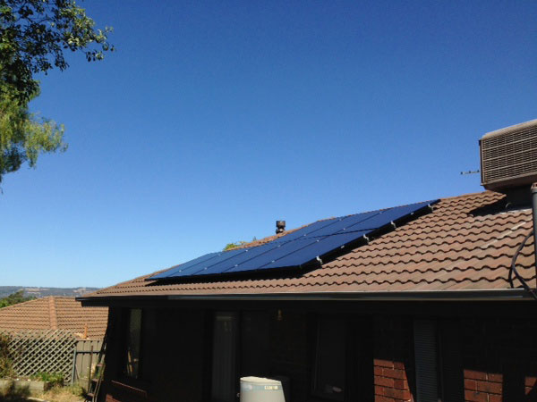 Tile Roof mounted Solar panels