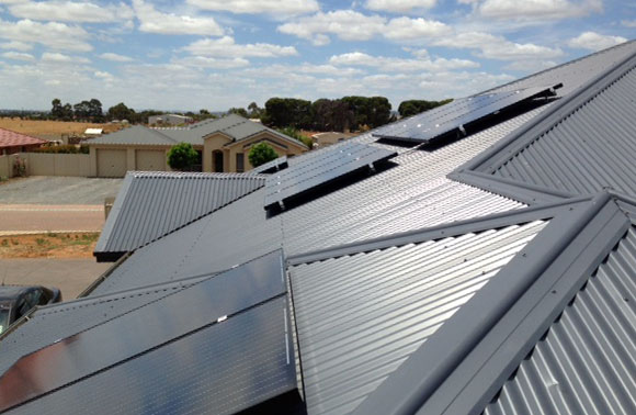 Solar Hot water and PV on an Adelaide roof