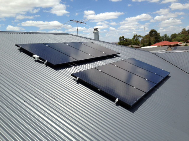 Solar Panels on an Adelaide roof